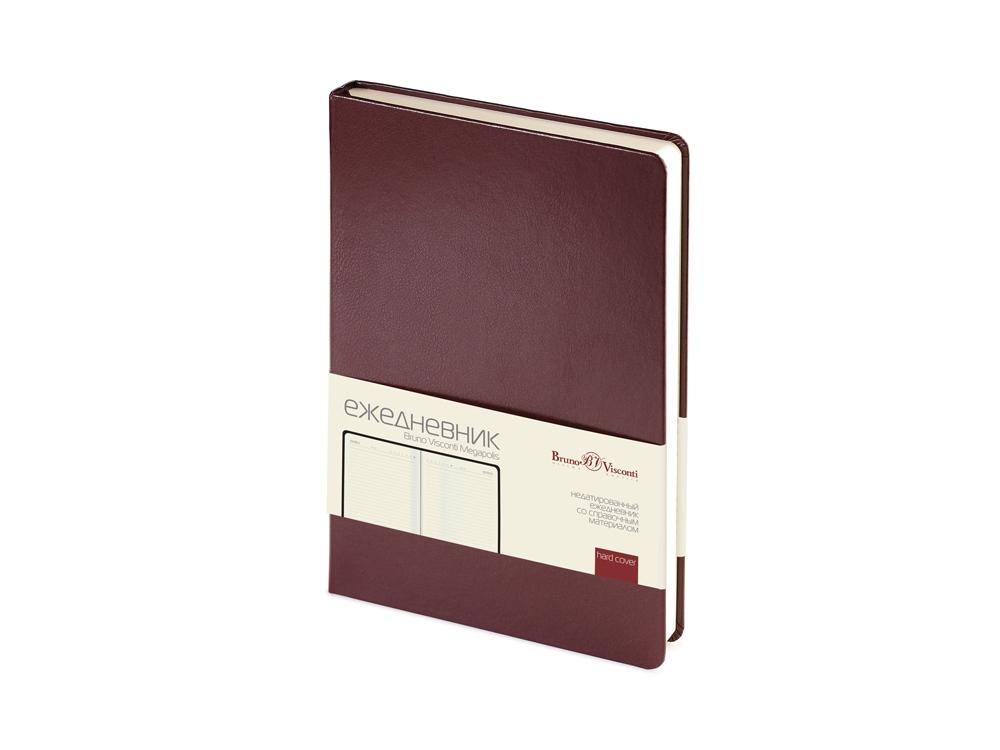 Ежедневник недатированный А5 Megapolis, коричневый