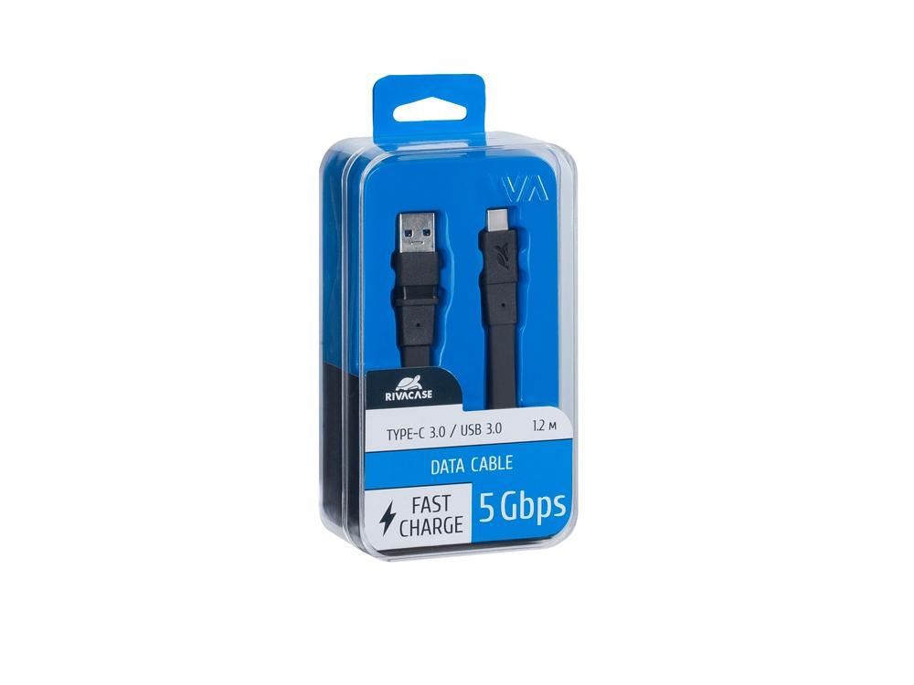 Кабель USB Type C 3.0 – Type A 1.2м BK12, черный