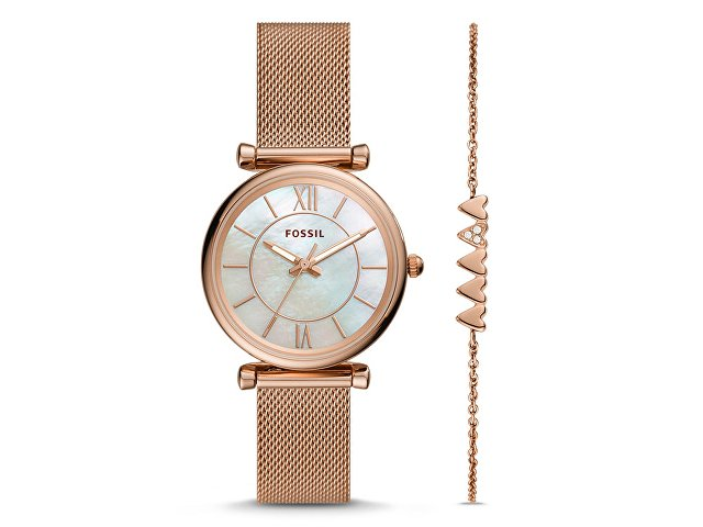 Подарочный набор: часы наручные женские, браслет (арт. 29682)