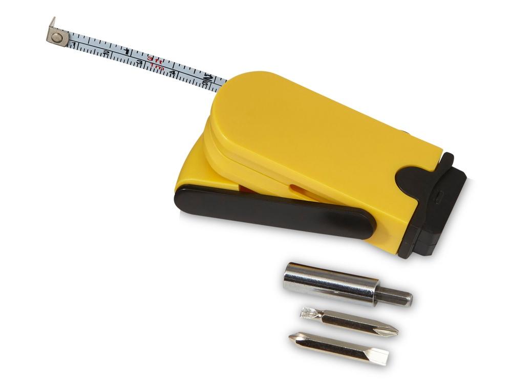 Набор инструментов Branch с рулеткой, желтый