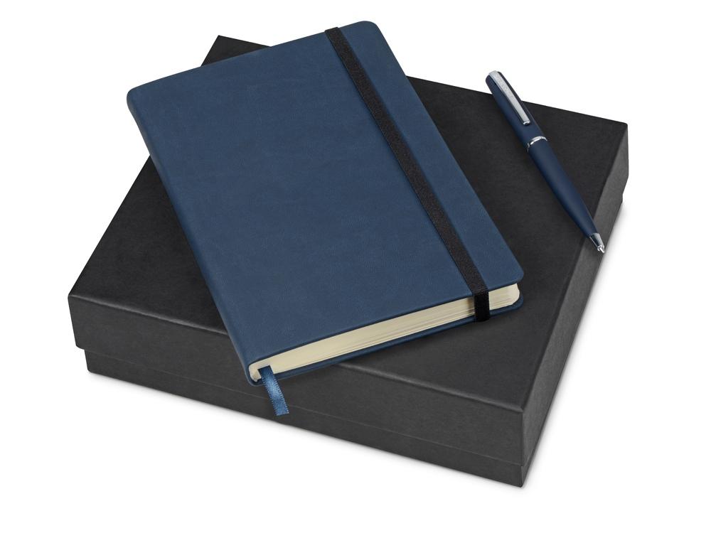Подарочный набор Bruno Visconti Megapolis Velvet: ежедневник А5 недат., ручка шарик., темно-синий