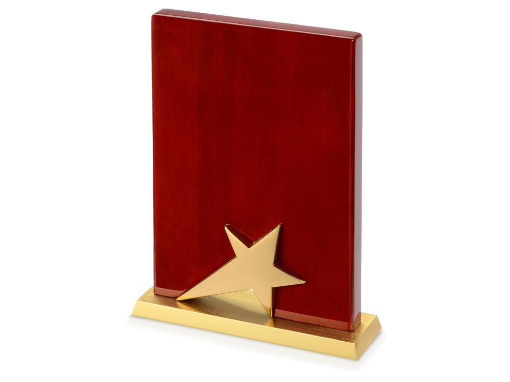 Плакетка Звезда, коричневый