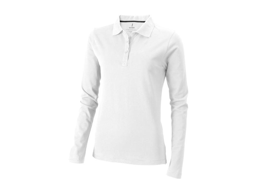 Рубашка поло Oakville женская с длинным рукавом, белый