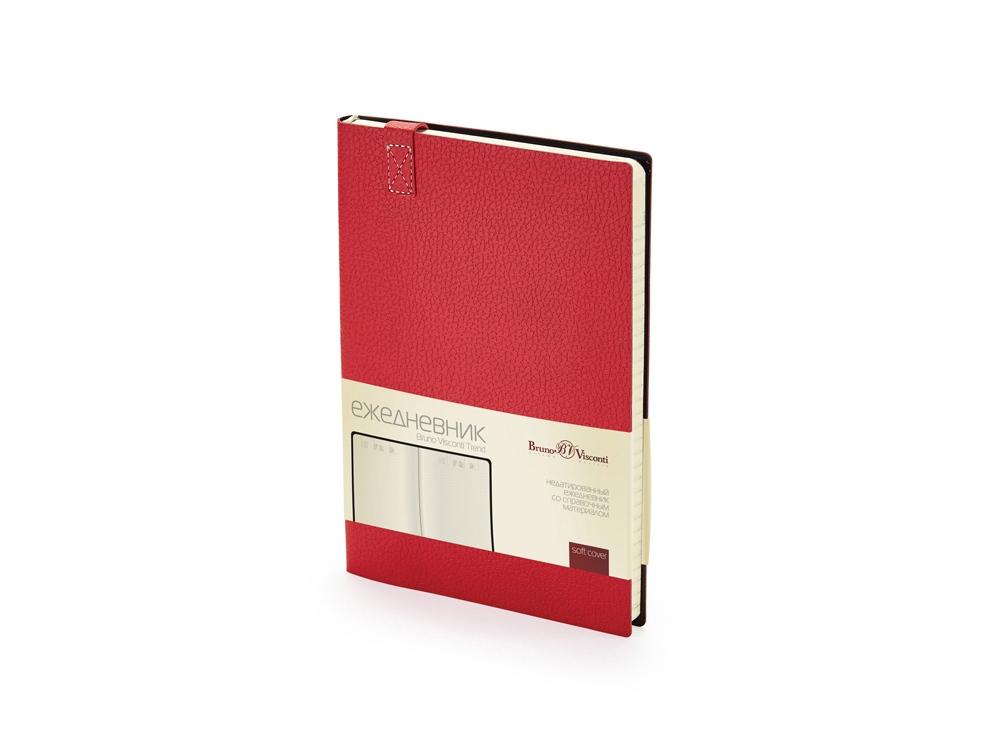 Ежедневник А5 недатированный Trend, красный