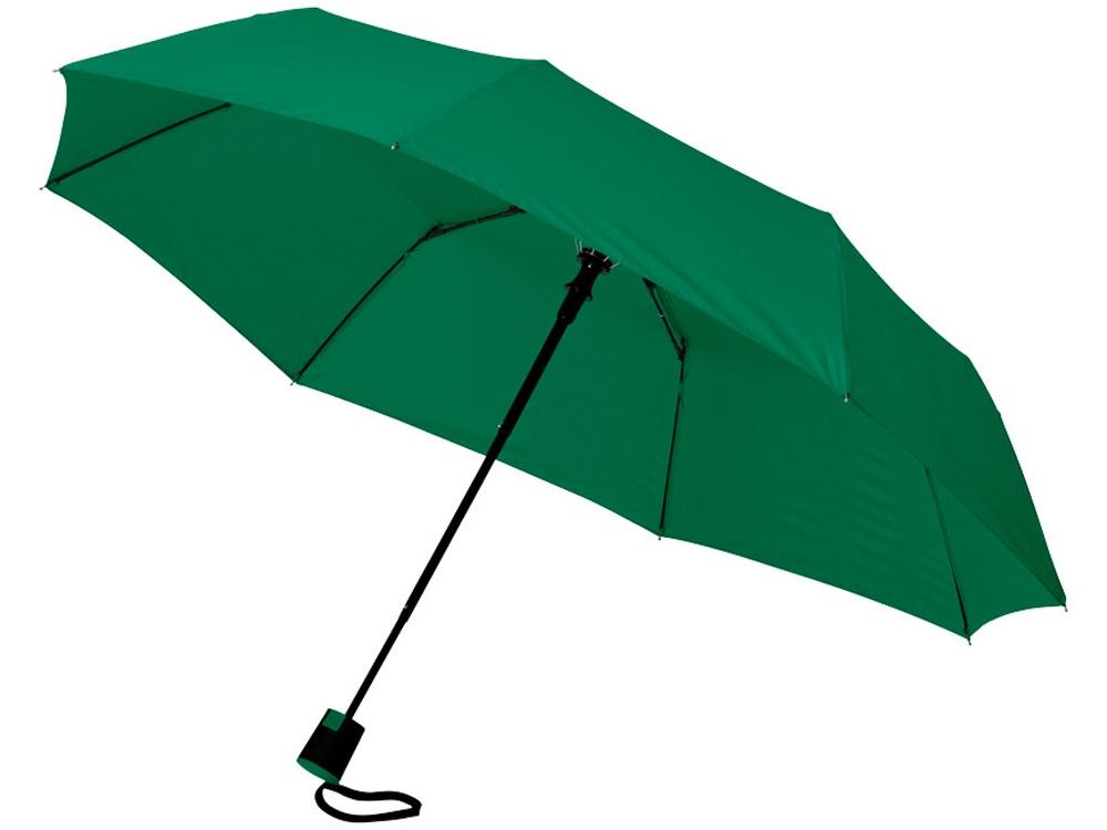 Зонт Wali полуавтомат 21, зеленый