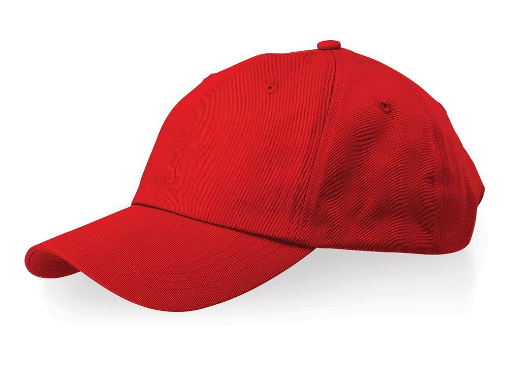 Бейсболка Apex 6-ти панельная, красный