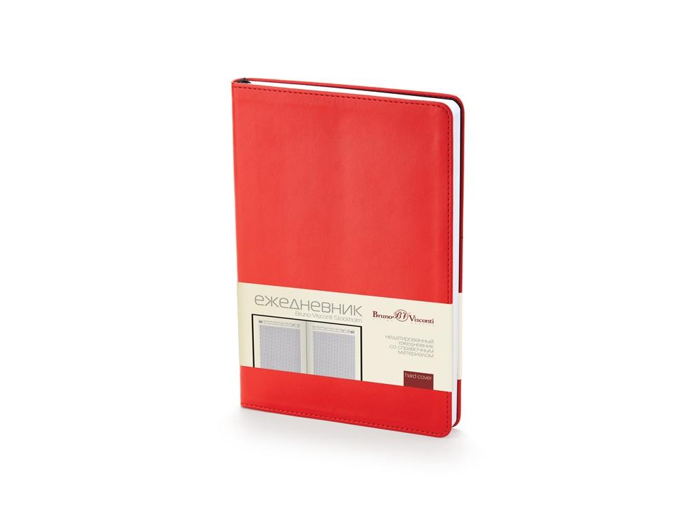 Ежедневник недатированный А5 Stockholm, красный
