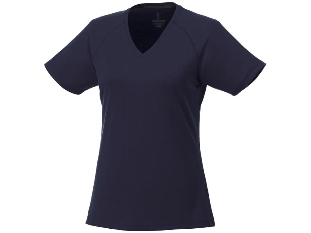 Модная женская футболка Amery  с коротким рукавом и V-образным вырезом, темно-синий