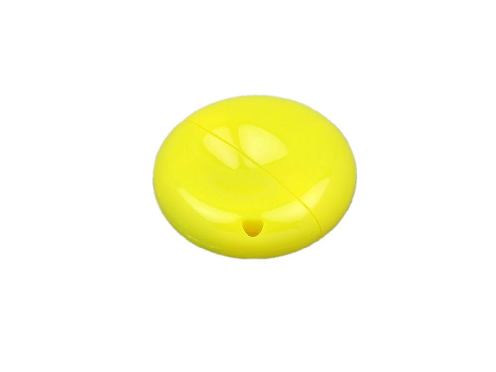 Флешка промо круглой формы, 16 Гб, желтый