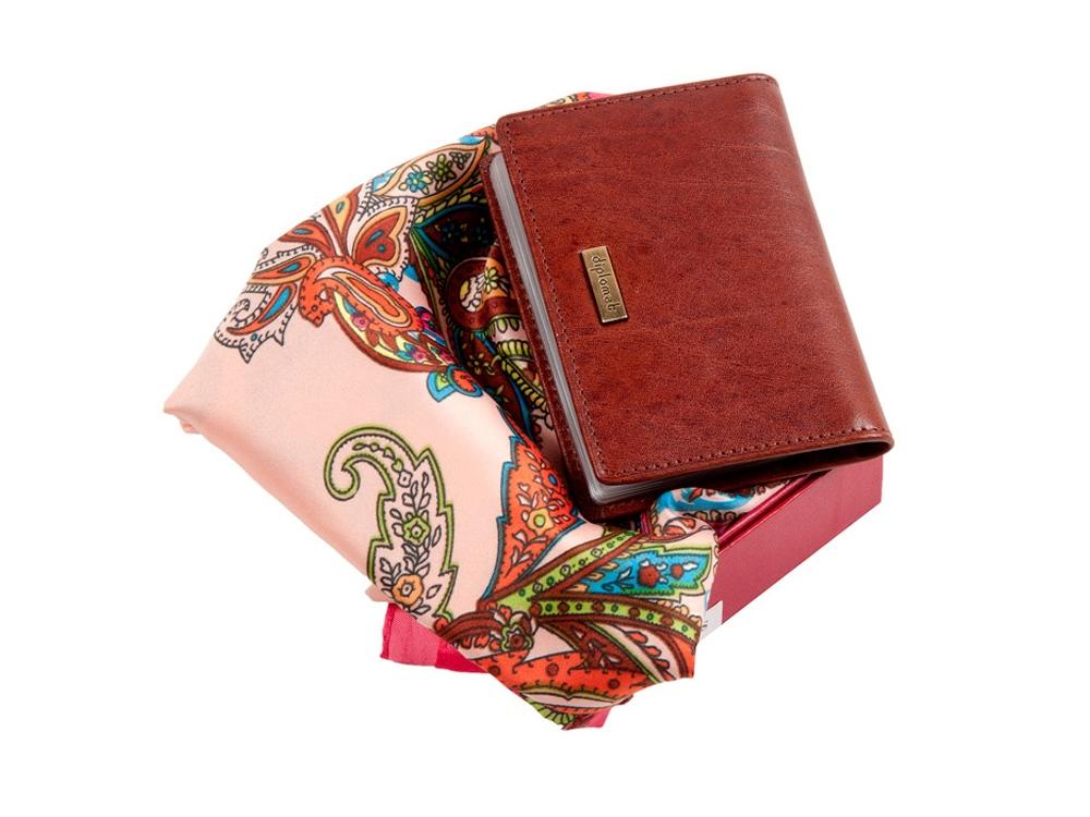 Подарочный набор: элегантная женская визитница и стильный платок