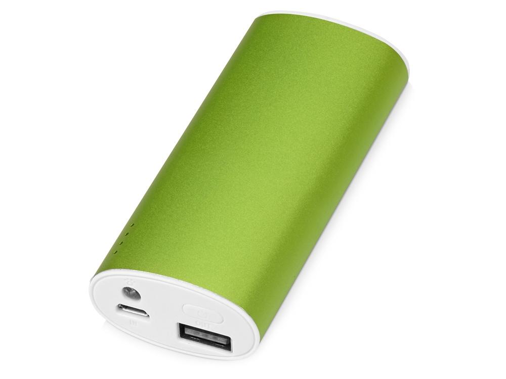 Портативное зарядное устройство Квазар, 4400 mAh, зеленое яблоко