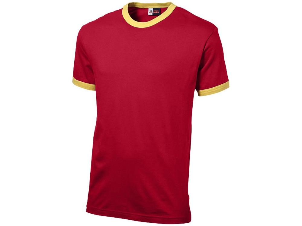 Футболка Adelaide мужская, красный/желтый