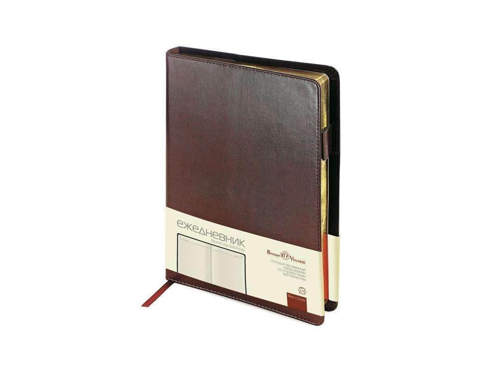 Ежедневник полудатированный портфолио А5  PROFY коричневый