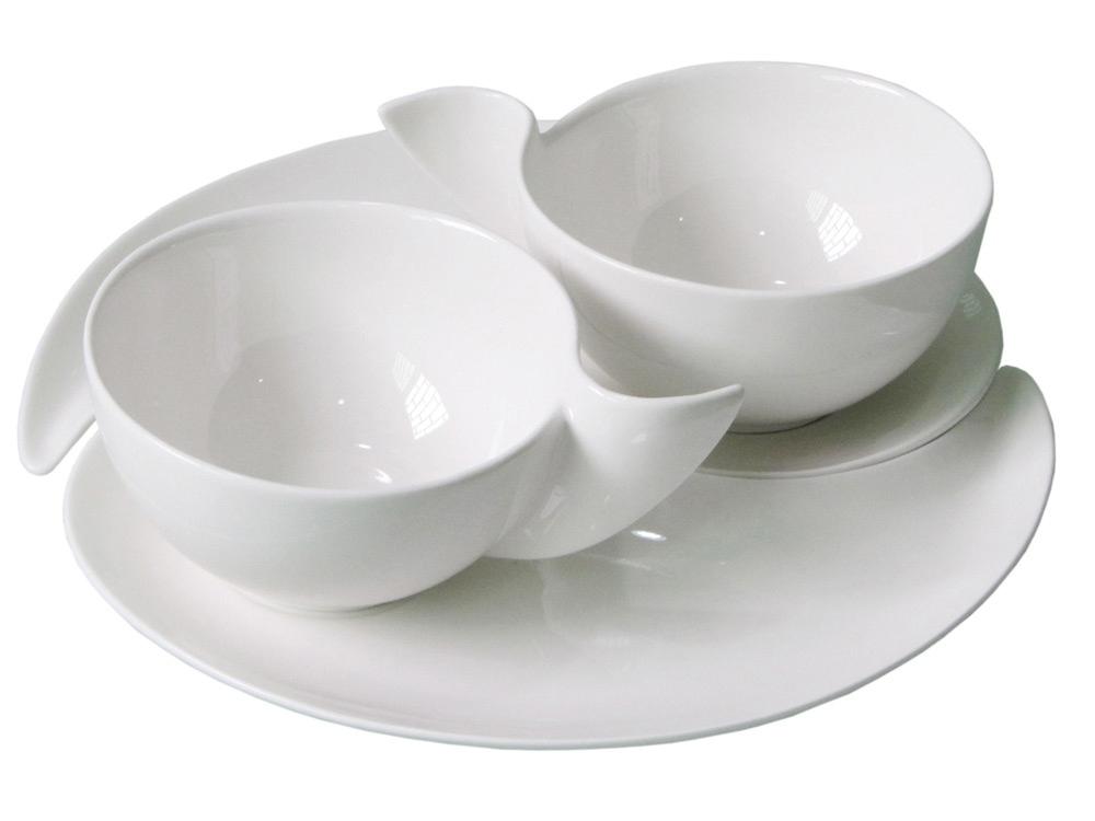 Набор Инь и Янь: 2 чашки на 300 мл с блюдцами