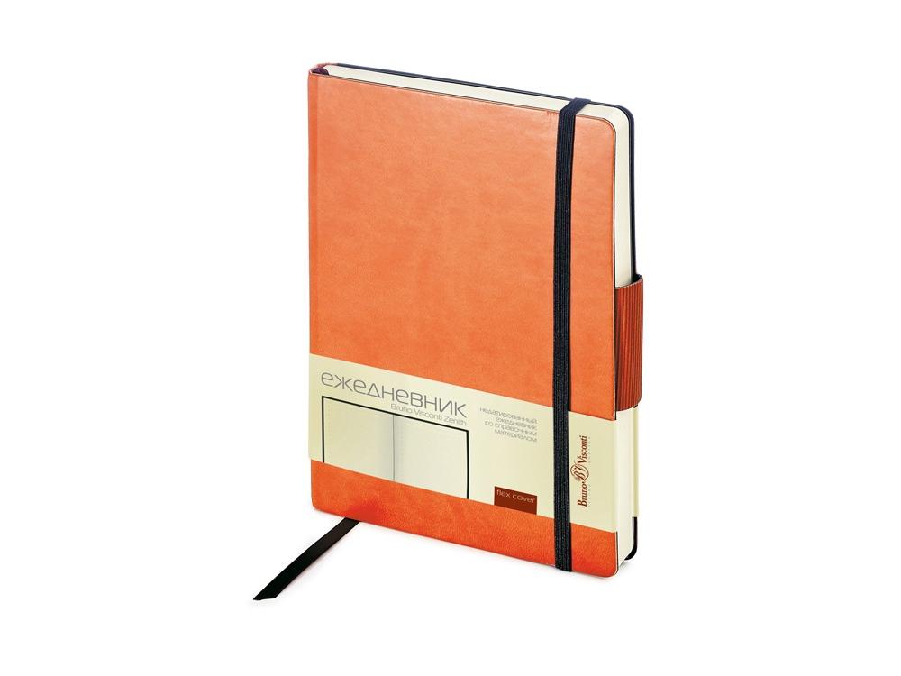 Ежедневник В6 недатированный Zenith, оранжевый