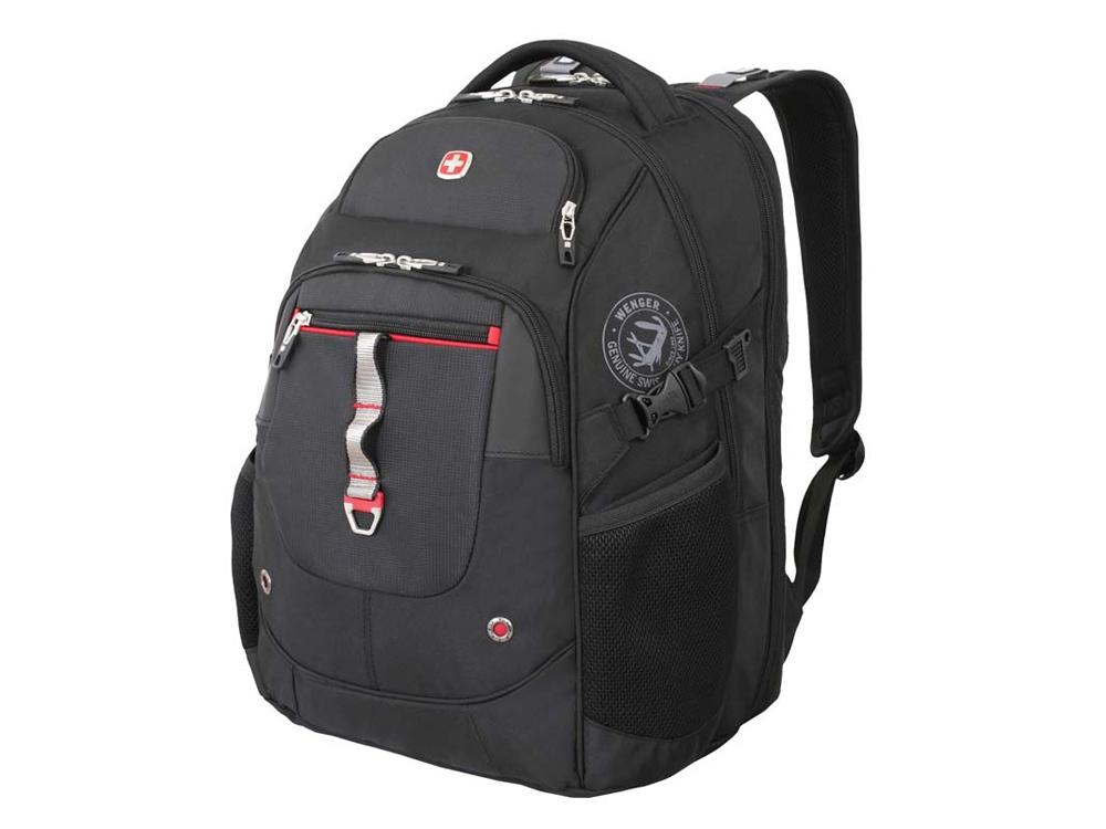 Рюкзак ScanSmart 34л с отделением для ноутбука 15. Wenger, черный/красный