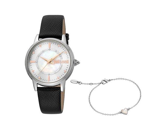 Подарочный набор: часы наручные женские, браслет (арт. 60016)