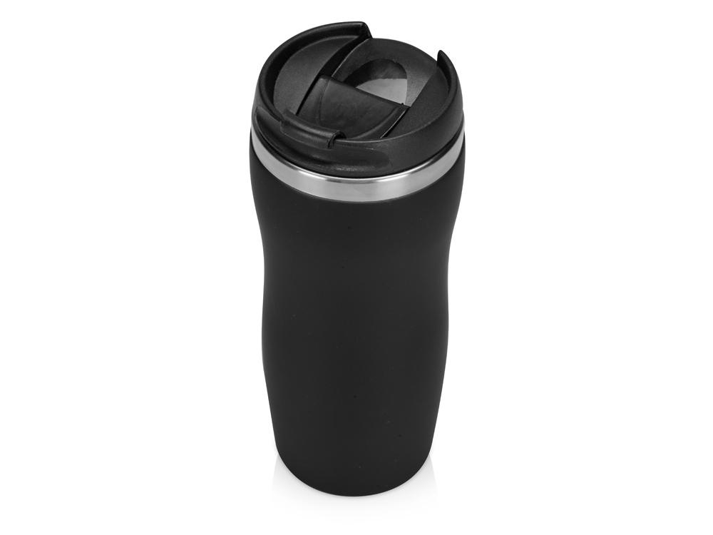 Термокружка Mony Steel 350 мл, soft touch, черный
