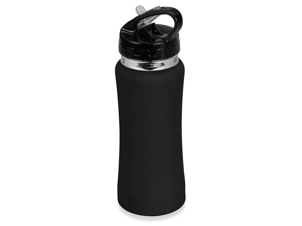 Бутылка спортивная Коста-Рика 600мл, черный