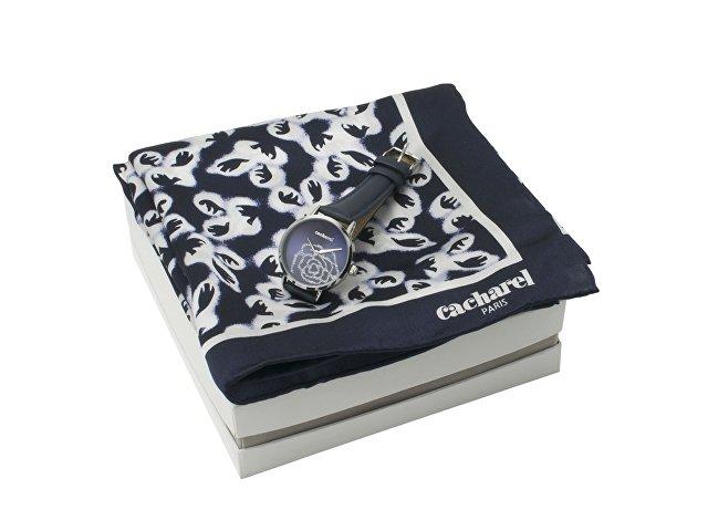 Подарочный набор: часы наручные женские, шелковый платок (арт. CPMN736N)