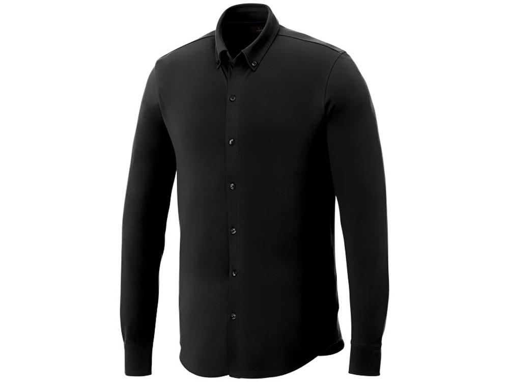 Мужская рубашка Bigelow из пике с длинным рукавом, черный