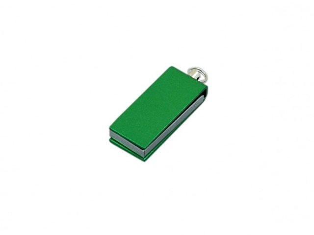 Флешка с мини чипом, минимальный размер, цветной  корпус, 16 Гб, зеленый