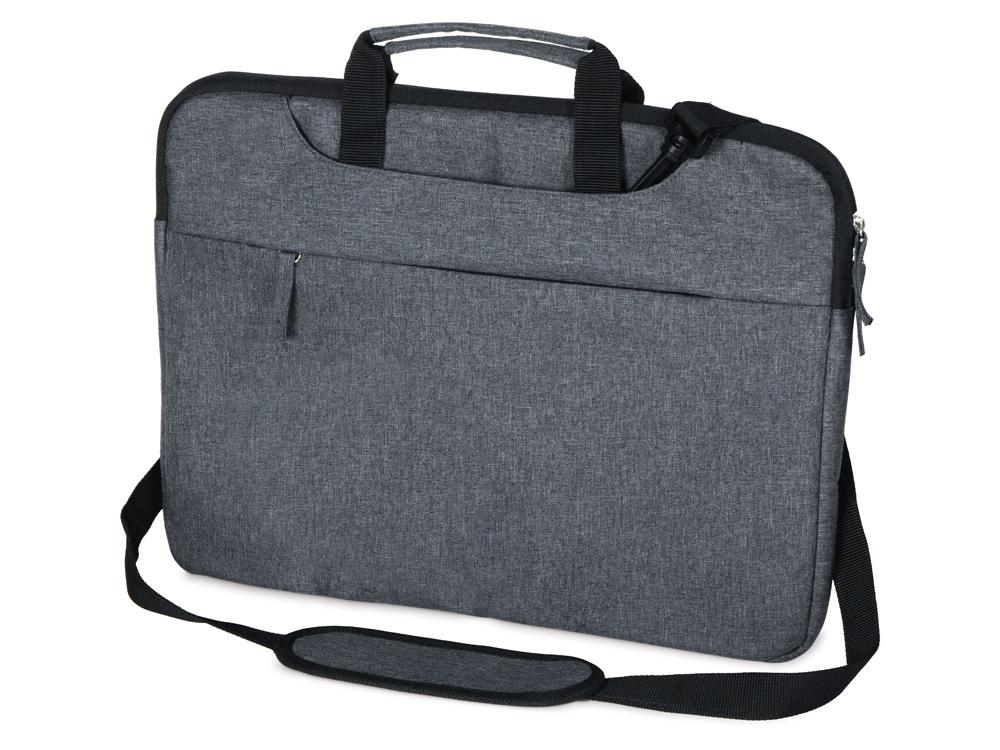 Сумка Plush c усиленной защитой ноутбука 15.6 '', серо-синий