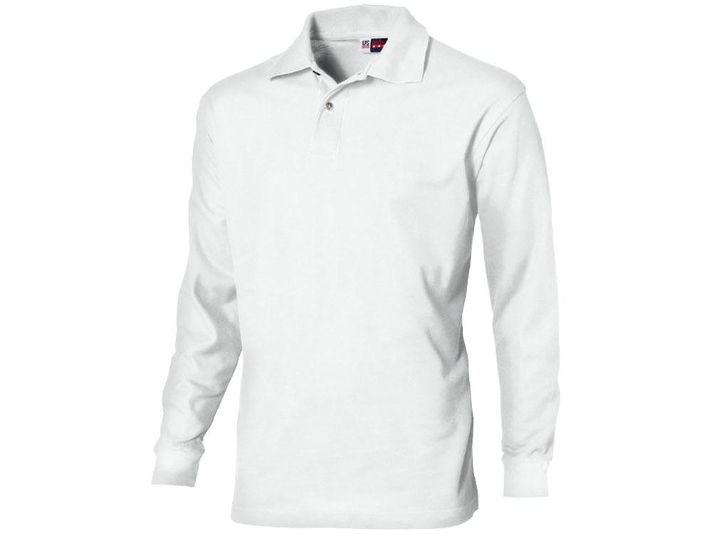 Рубашка поло Seattle мужская с длинным рукавом, белый