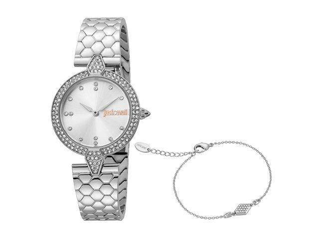 Подарочный набор: часы наручные женские, браслет (арт. 60018)