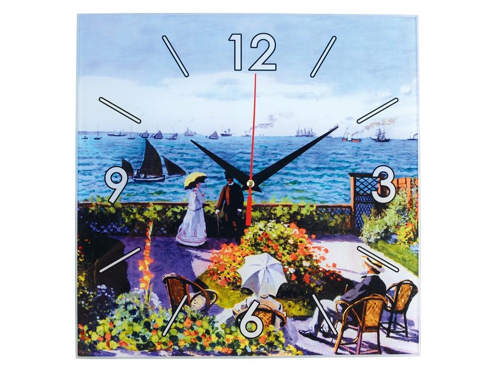 Часы настенные Моне. Сад в Сент-Андрес, голубой