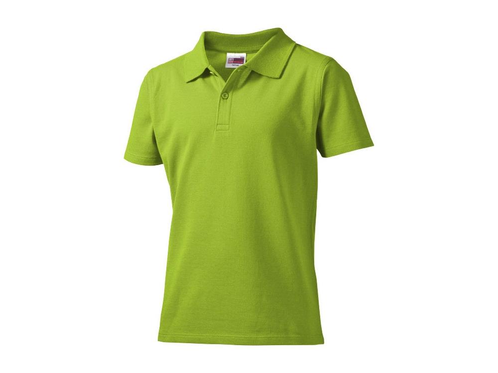 Рубашка поло First детская, зеленое яблоко