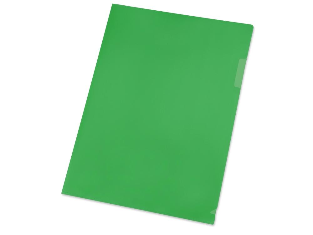 Папка- уголок, для формата А4, плотность 180 мкм, зеленый