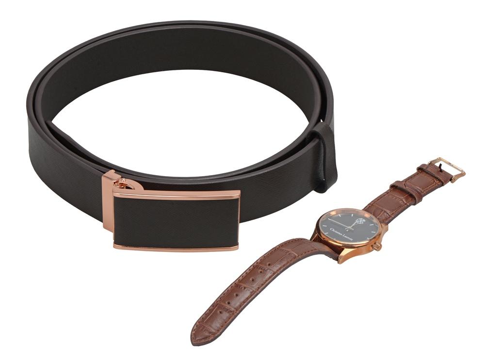 Подарочный набор: наручные часы Poursuite, ремень Seal. Christian Lacroix