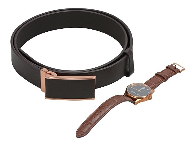 Подарочный набор: часы наручные мужские, ремень