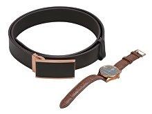 Подарочный набор: часы наручные мужские, ремень (арт. 60409)