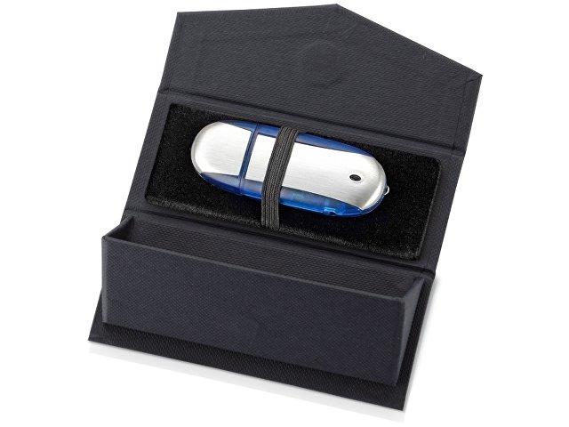 Подарочная коробка для флеш-карт треугольная, синий
