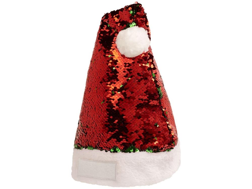 Рождественская шапка Sequins, красный,зеленый