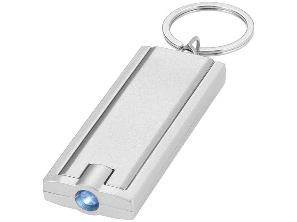 Брелок-фонарик Castor, серебристый/серый