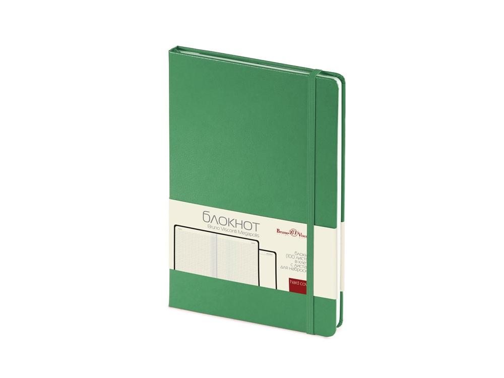 Блокнот А5 Megapolis Journal, зеленый