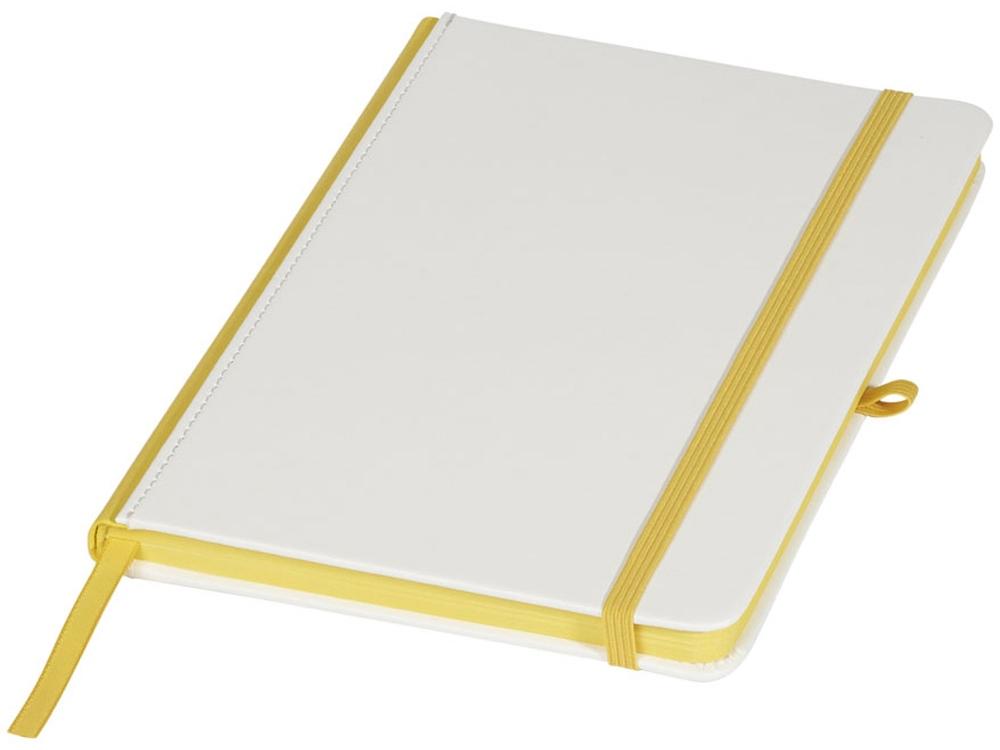 Блокнот А5 Solid, белый/желтый