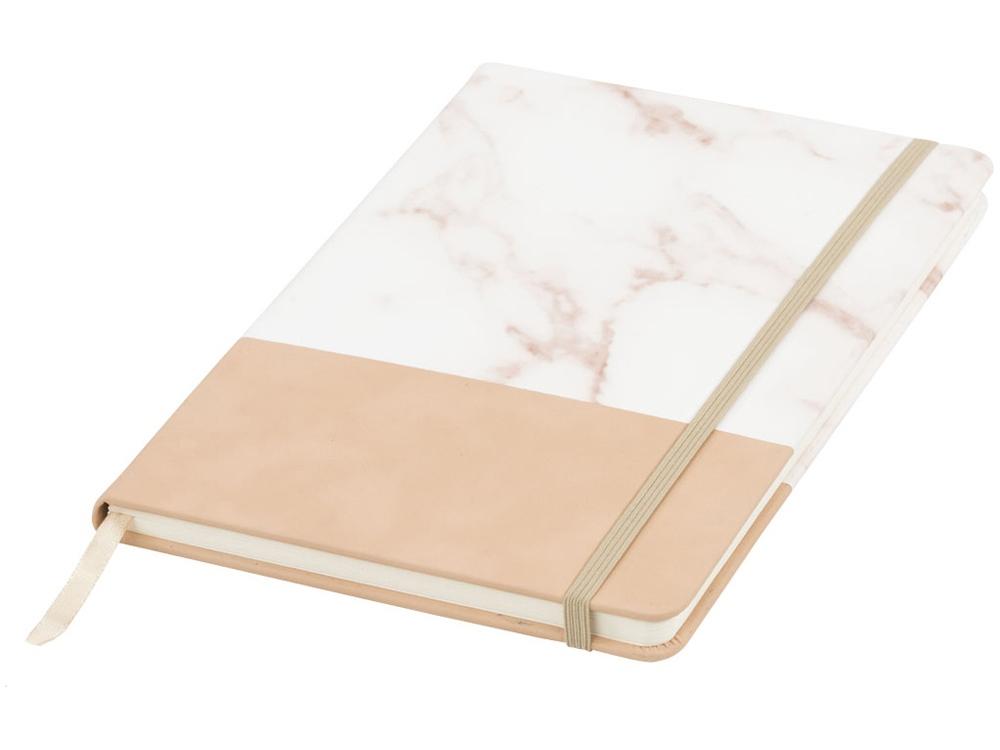Двухцветная записная книжка A5, коричневый