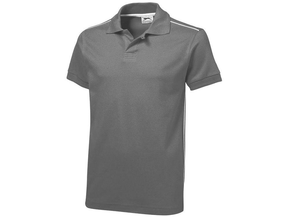 Рубашка поло Backhand мужская, серый-белый