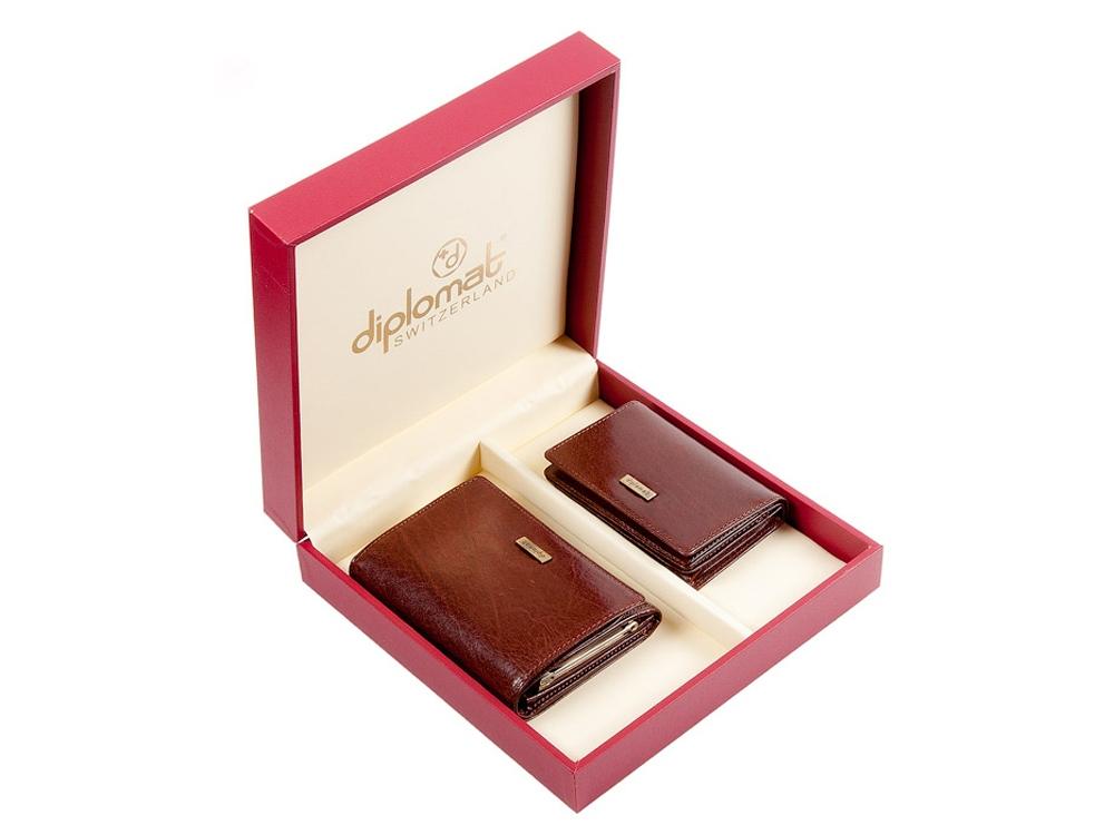 Подарочный набор: дамское портмоне и визитница