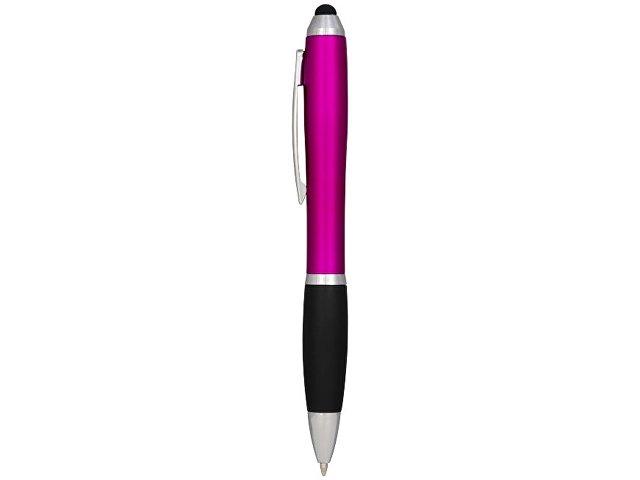 Шариковая ручка-стилус Nash, розовый, синие чернила