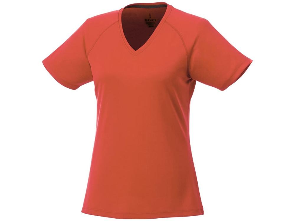 Модная женская футболка Amery  с коротким рукавом и V-образным вырезом, оранжевый