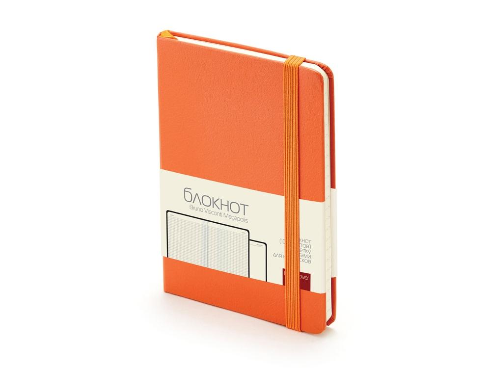 Блокнот А6 Megapolis Journal, оранжевый