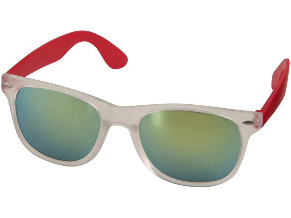 Солнцезащитные очки Sun Ray - зеркальные, красный