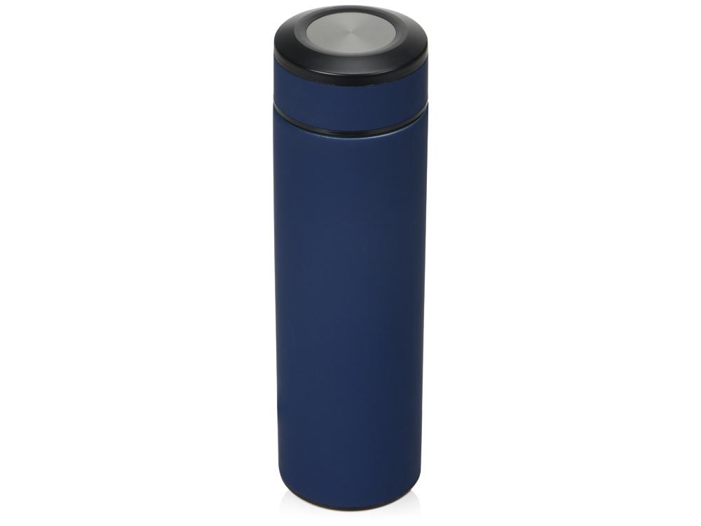 Термос Confident с покрытием soft-touch 420мл, темно-синий