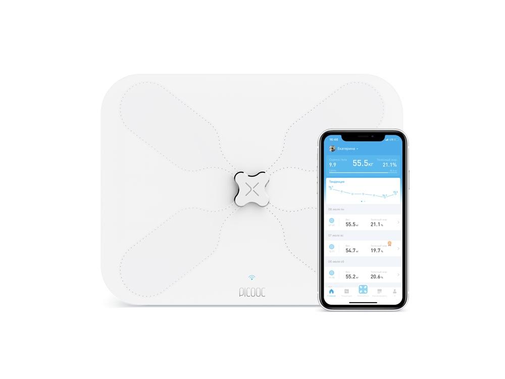 Умные диагностические весы с Wi-Fi Picooc S3 Lite White (6924917717049), белый
