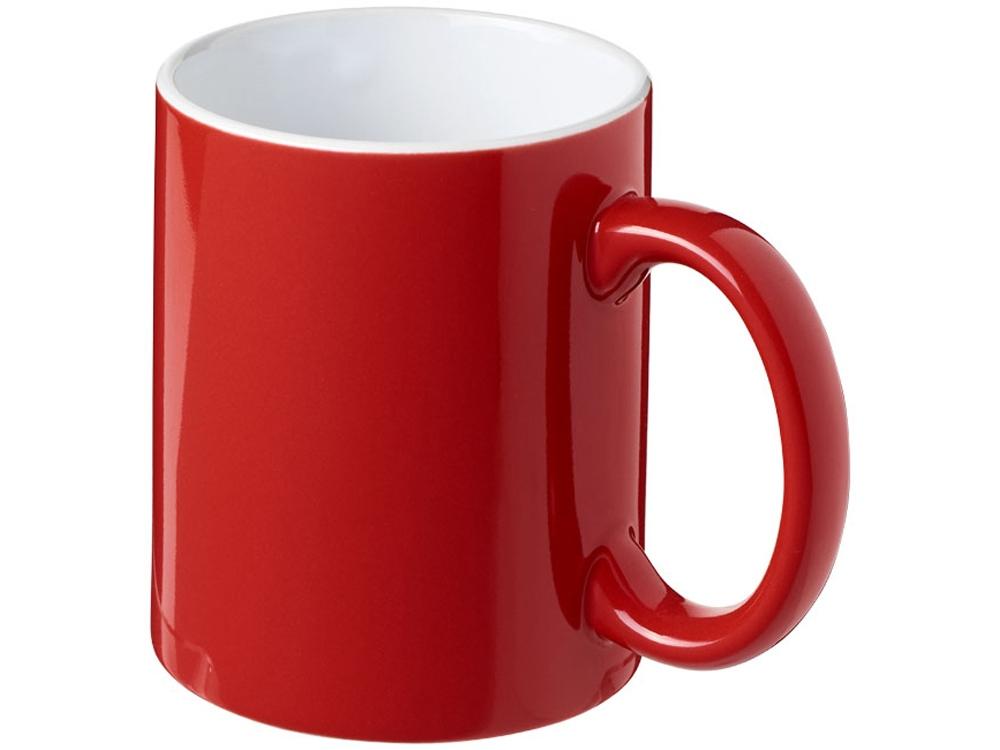 Керамическая кружка Java, красный/белый